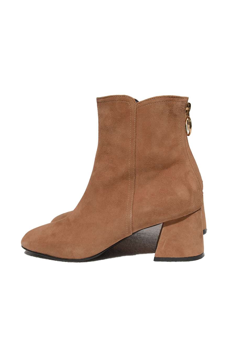 BACK ZIPPER SUEDE BOOTS