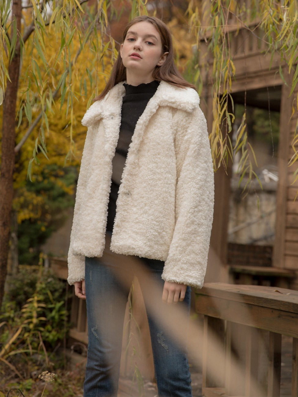 Raschel Fur Jacket White