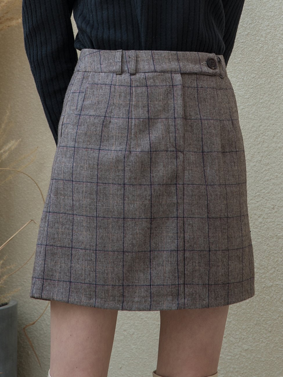 Standard Check Mini Skirt