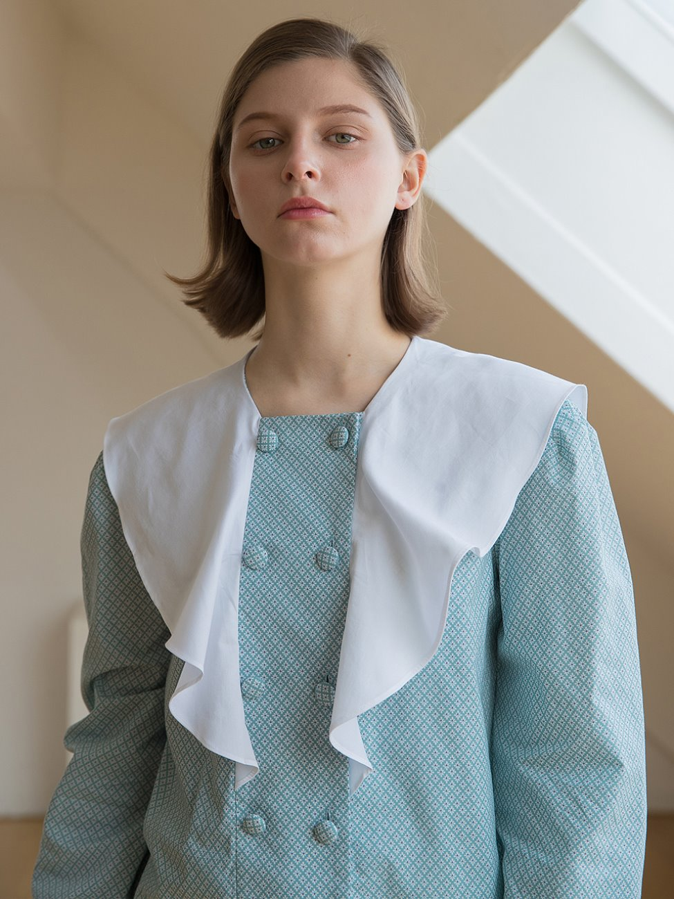 Flare Collar Blouse Mint